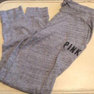 Pink sweatpants size xs in good used condition.